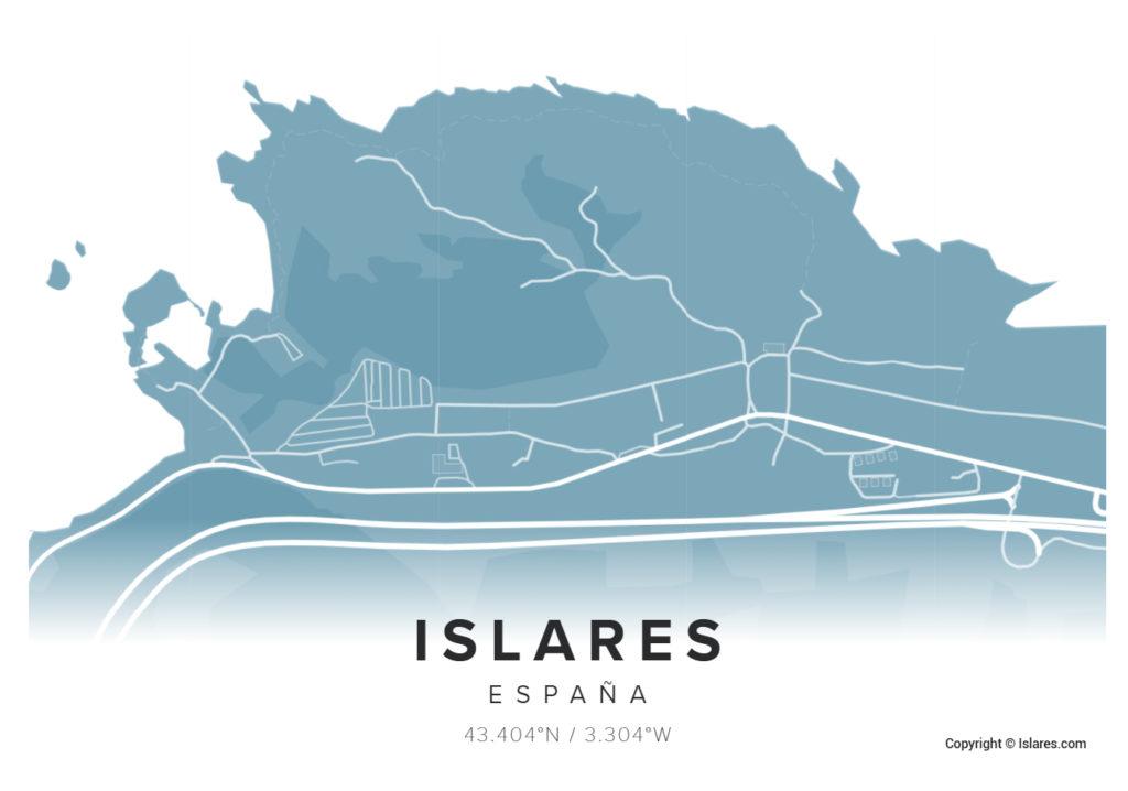 Mapa de Islares Copyright © Islares.com